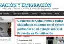 La emigración cubana es invitada a participar en consulta sobre Constitución del país [+ pdf]