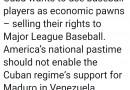 Presidente Trump ha cancelado el acuerdo de Cuba con Grandes Ligas.
